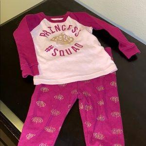 Princess squad pajama set 3-6 months